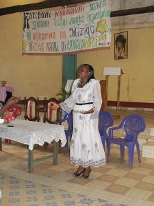 Eva, our organizer, interpreter and worship leader.