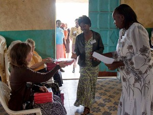 Each lady received a Bible and some gifts from Texas. We had Bibles in 3 languages.